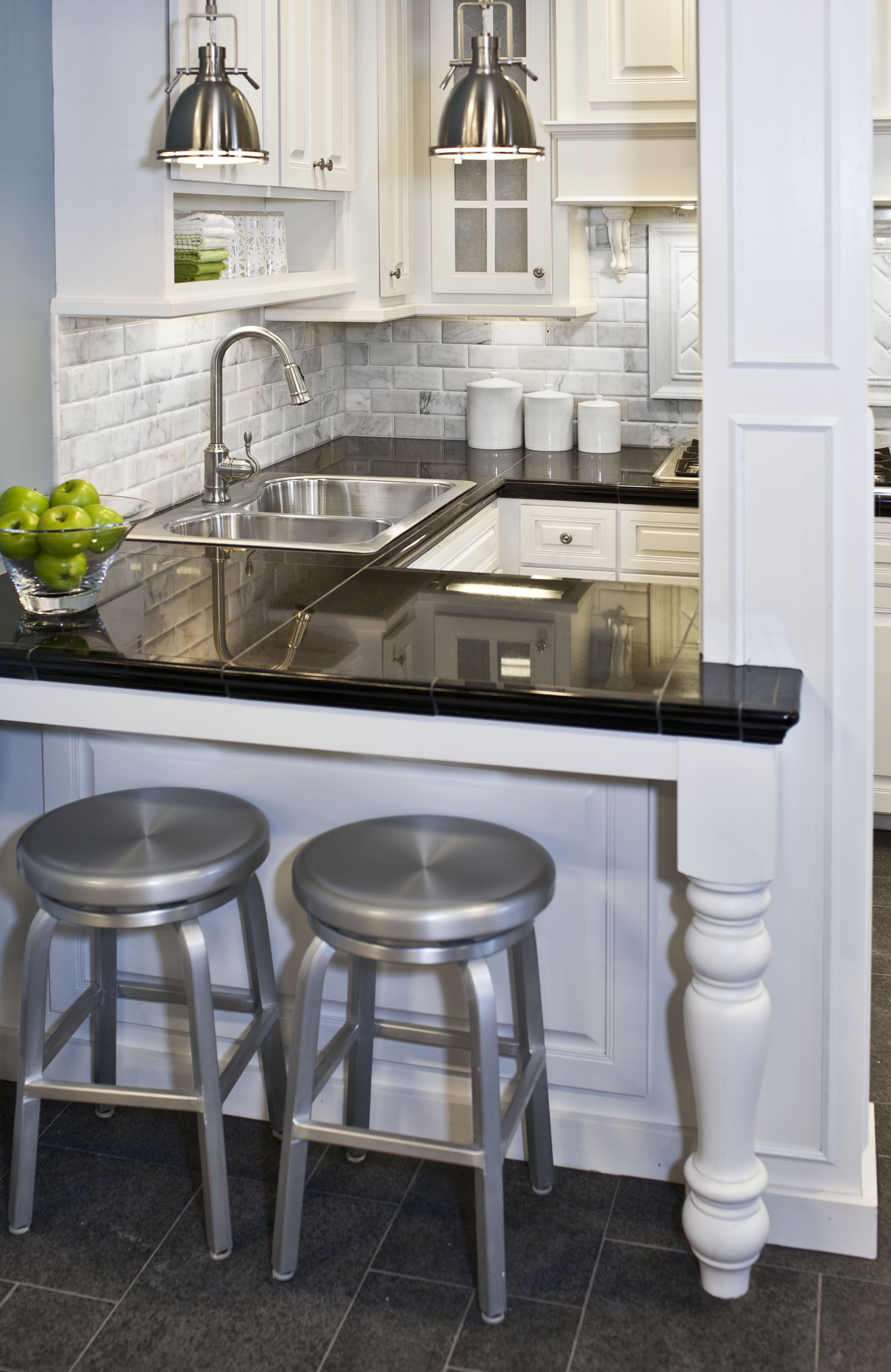 You can't go wrong with a classic black and white kitchen