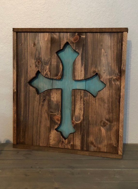 Wood Cross Home Decor Wood Cross Rustic Wooden Cross Wood