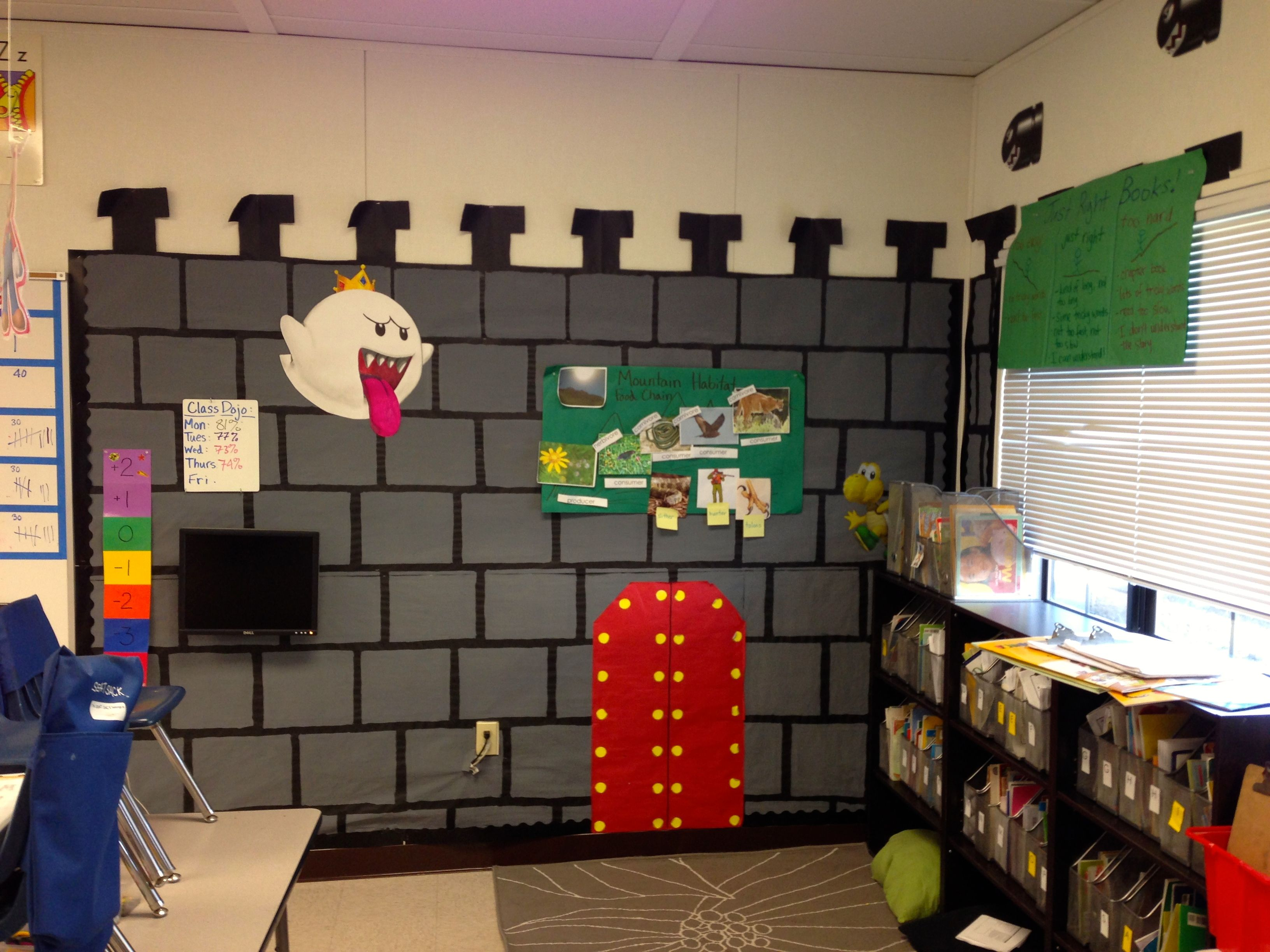 Mario Classroom Library--too awesome! | ☼ Classroom Design Ideas ...
