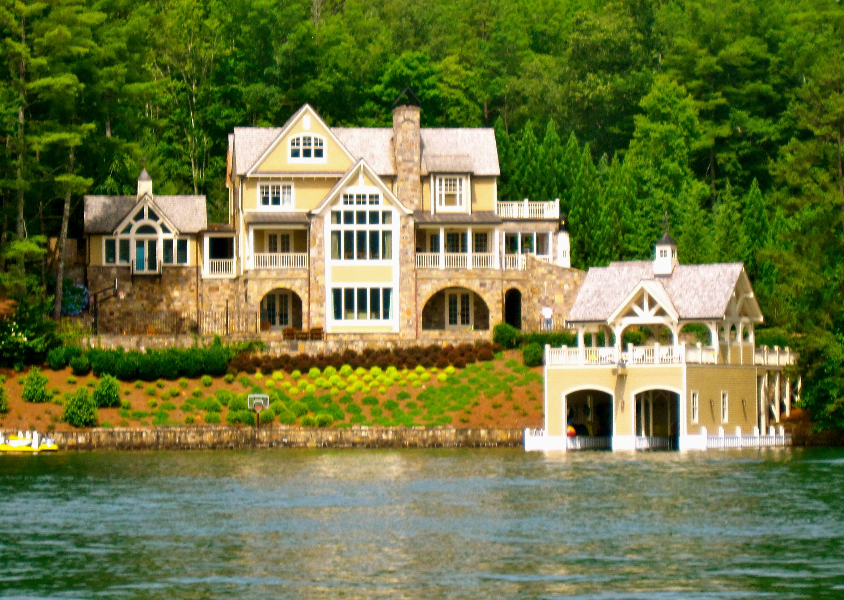 House On Lake Burton Minus The Yellow Sold Lake
