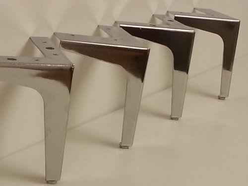 4 X Chrome Furniture Feet Metal Legs For Sofas Https