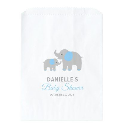 Elephant baby shower candy favor bag candy favors favor bags and elephant baby shower candy favor bag baby gifts child new born gift idea diy cyo negle Gallery