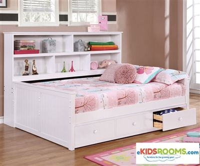 Full Size Bookcase Captains Daybed White Allen House Kids