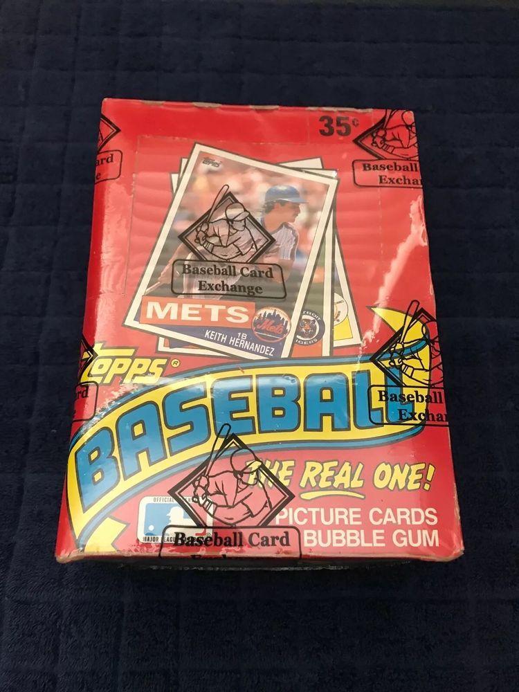 1985 Topps Baseball Wax Box Unopened Bbce Wrapped Sealed Wax