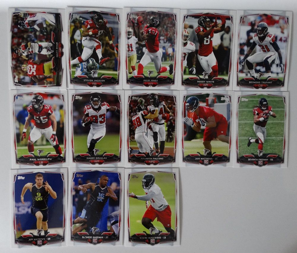 2014 Topps Atlanta Falcons Team Set Of 13 Football Cards Ebay Atlanta Falcons Team Football Cards Atlanta Falcons