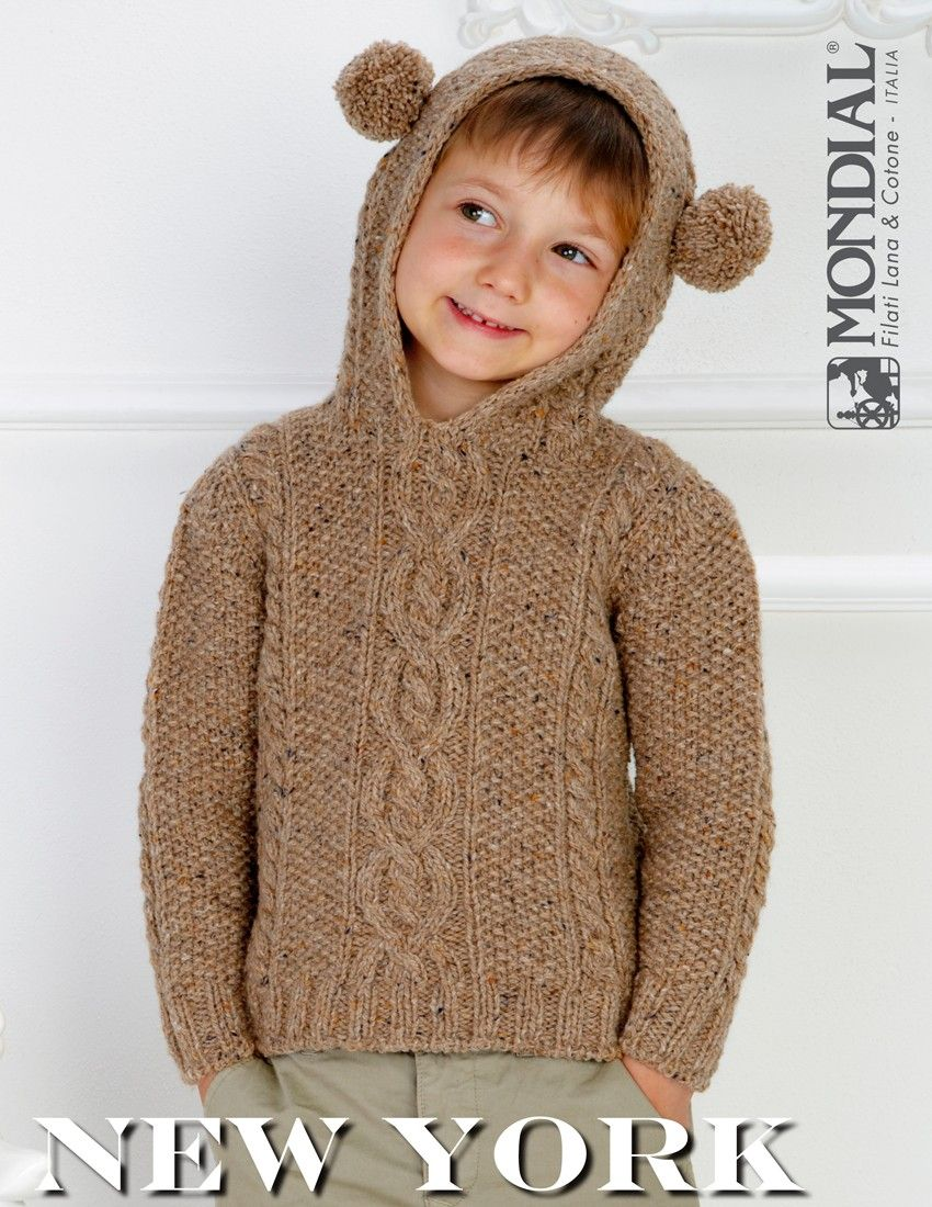 New York – Hooded Sweater | Knitting Fever Yarns & Euro Yarns | Knit ...