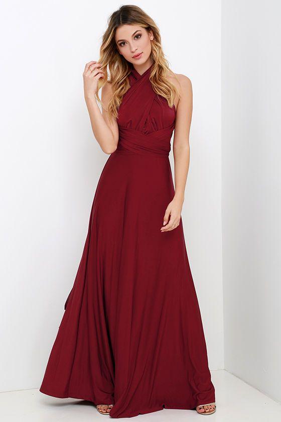 Always Stunning Convertible Burgundy Maxi Dress at Lulus.com! cb2be3dd80b2