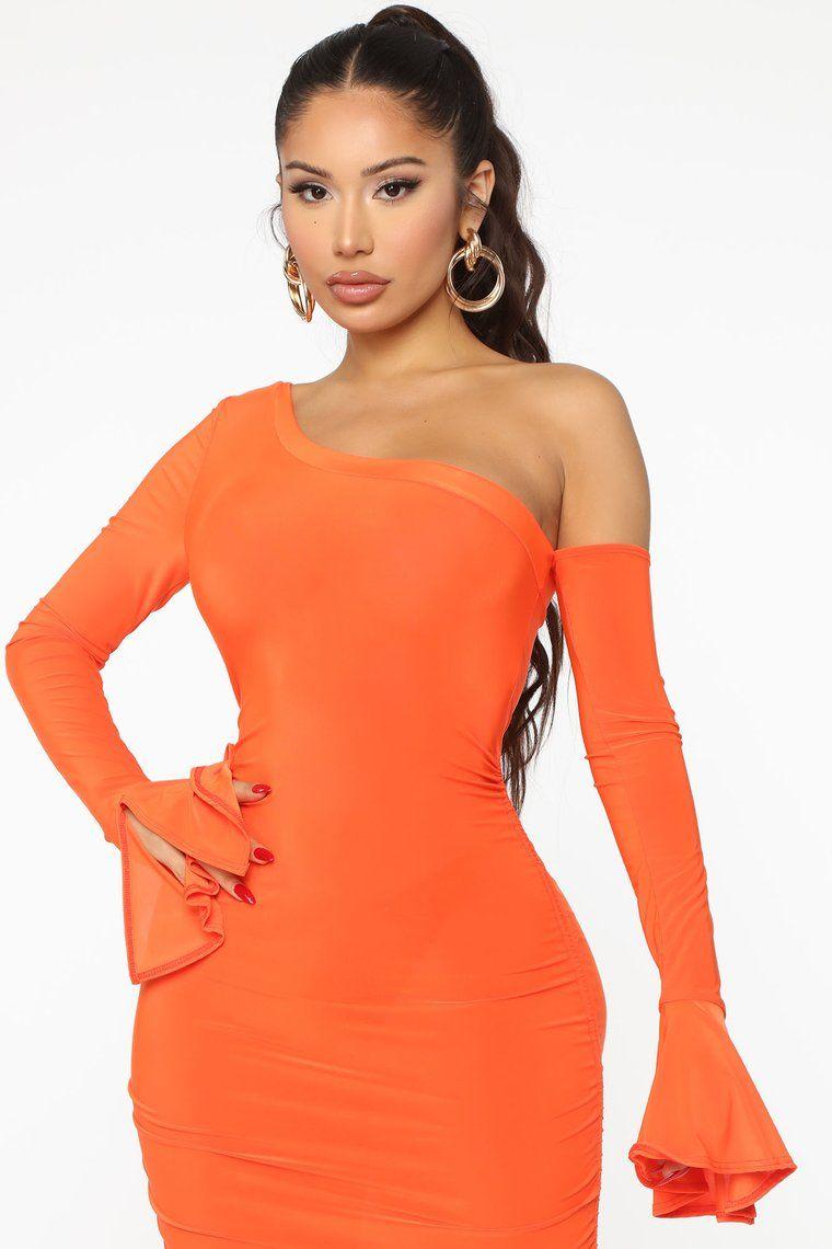 Staying Home Ruched Mini Dress Orange Orange Bodycon Dress Mini Dress Fashion Nova Dress [ 1140 x 760 Pixel ]