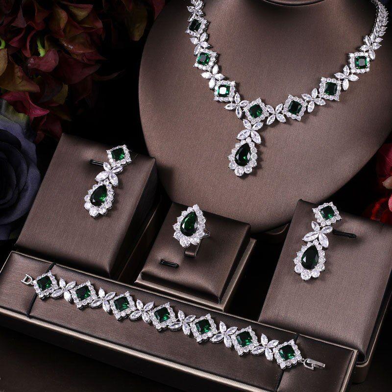 Photo of 48.25US $ 50% OFF Janekelly zirkonia halskette armband ohrringe und ring 4 stücke dubai volle Hochzeit schmuck set für frauen braut Jewelry Sets    – AliExpress