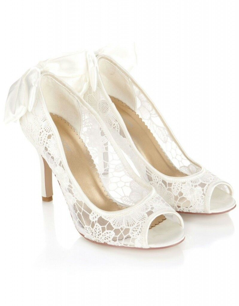 Wedding Shoes Bride Vintage Lace Bridal P Toe