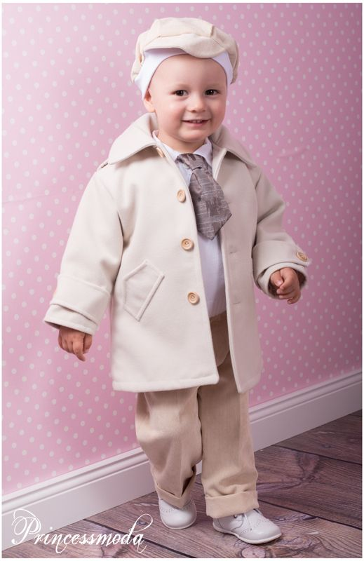 marcel - zuckersüßer taufanzug inkl. taufmantel in creme