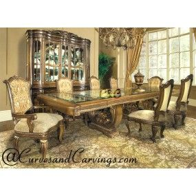 Curves Carvings Signature Collection Dining Table Set C C Dtc0049 Modern Dining Room Set Dining Table Online Table