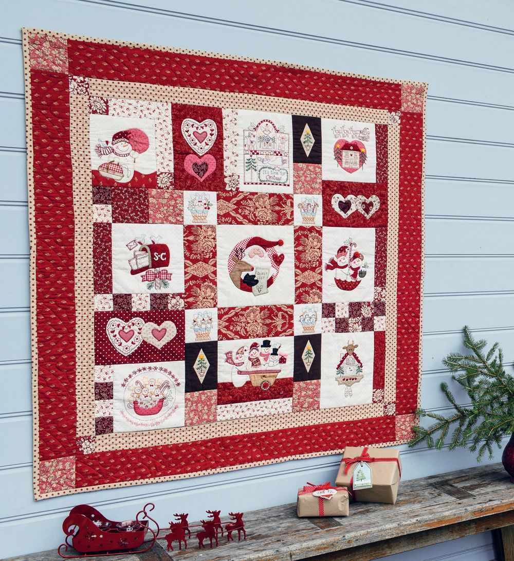 Its Time For Christmas Block Of The Month Quilt Designed By Bronwyn
