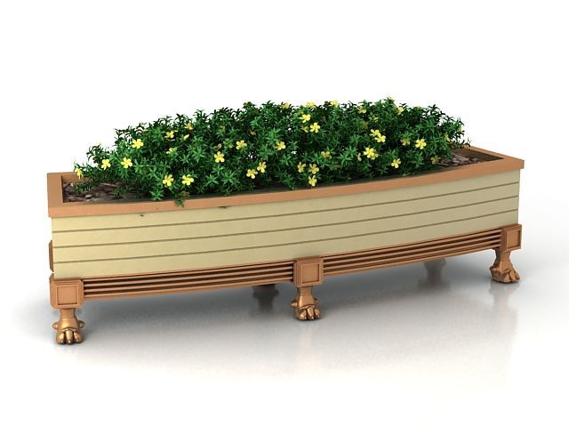 Rustic wooden flower box 3d model #woodenflowerboxes Rustic wooden flower box 3d model #woodenflowerboxes
