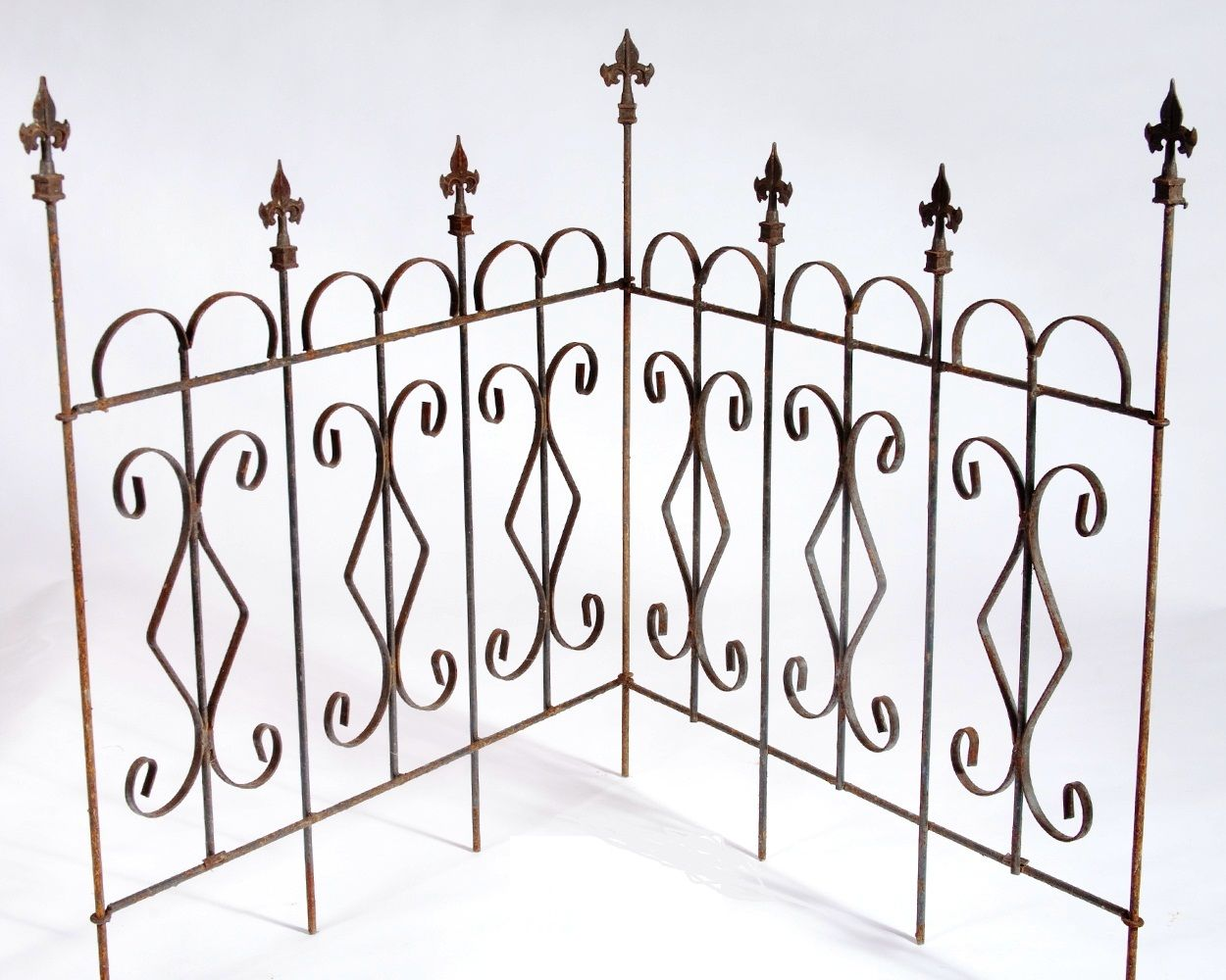 Diamond Garden Metal Border Fence Edging Landscape Border Fencing 10 Styles Wrought Iron Fences Iron Fence Panels Iron Fence