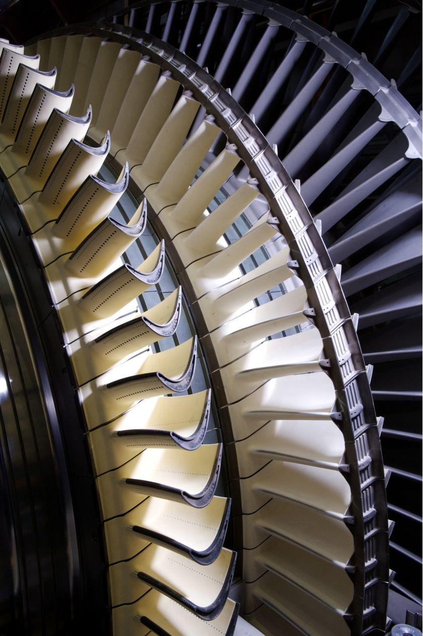 Gas Turbine blades  See the microchannels for blade surface