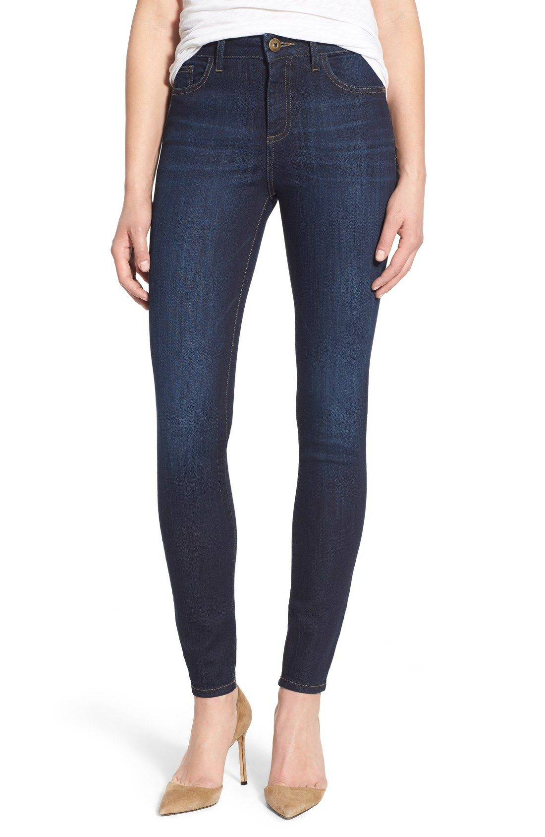 DL1961 'Farrow' High Rise Instaslim Skinny Jeans (Gossip)
