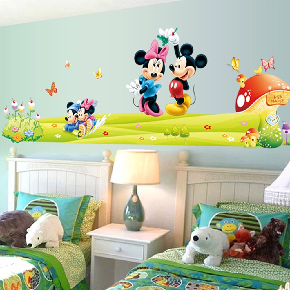 The New Listing Of Mickey Mouse Cartoon Wall Stickers Children Room ...