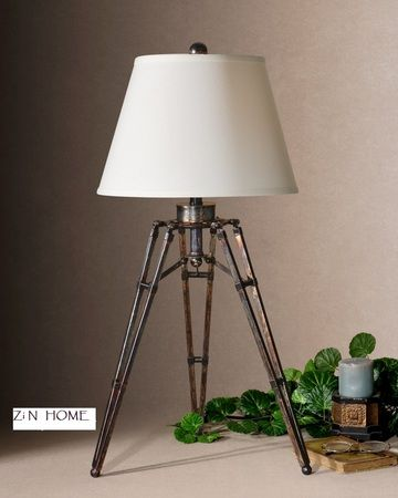 Tustin Rustic Tripod Table Lamp In 2021 Tripod Lamp Bronze Table Lamp Lamp Decor