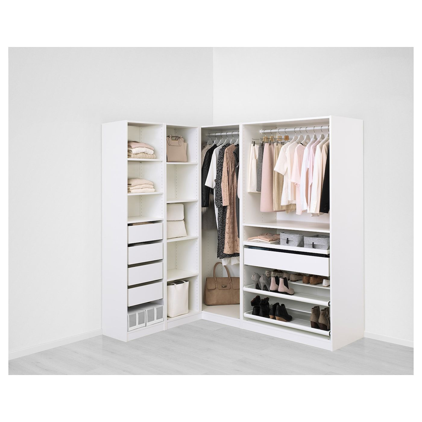 Ikea Pax Corner Wardrobe White 10 Year Limited Warranty Read About The Terms In The Limite Eckkleiderschrank Eckschrank Kleiderschrank Pax Kleiderschrank