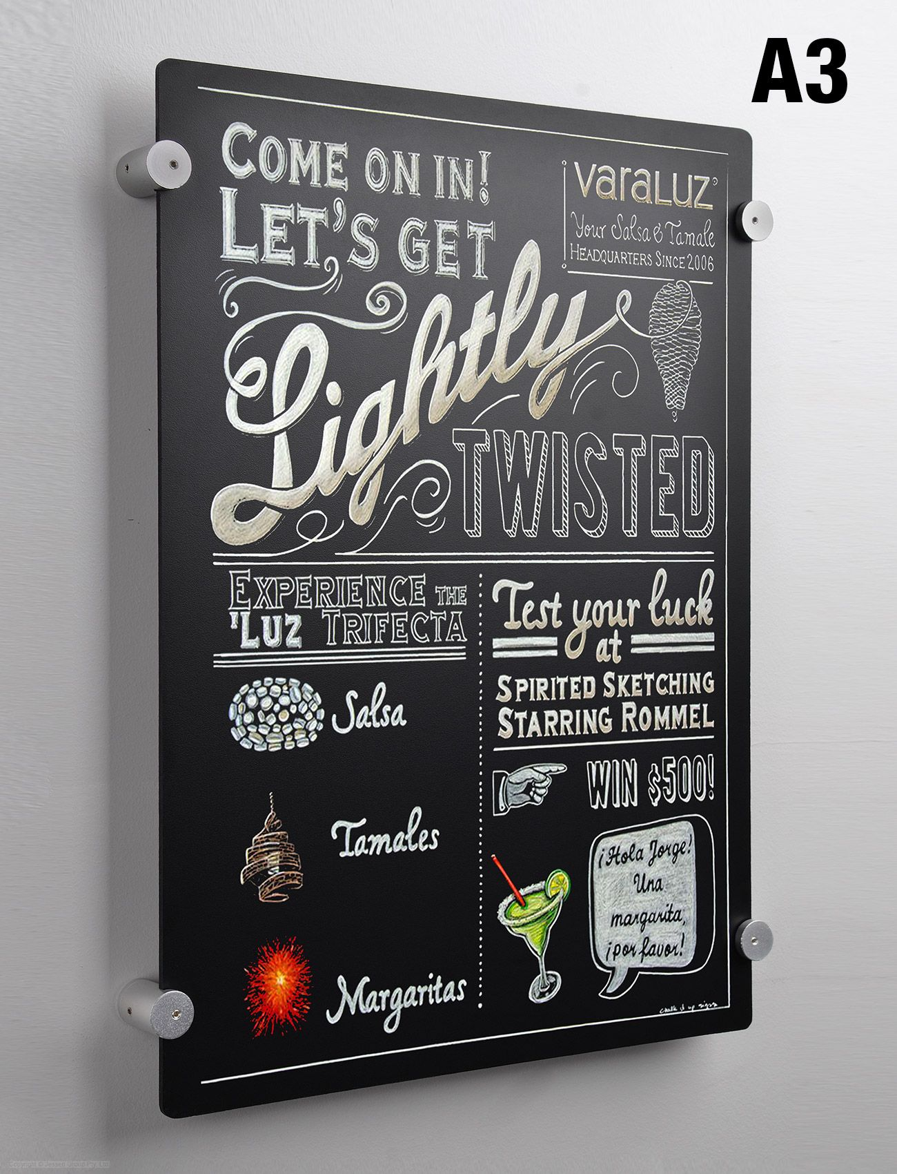 Wall Menu Board Is A3 For Large Writable Space Attach Blackboard To Wall In Portrait Or Landscape Orientation Co Menu Board Coffee Chalkboard Chalkboard Menu
