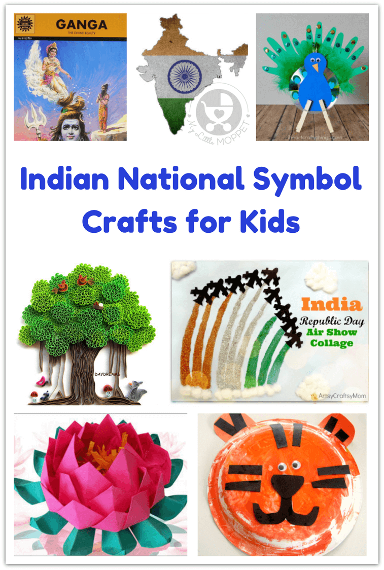 Indian National Symbol Crafts For Kids My Little Moppet Blog
