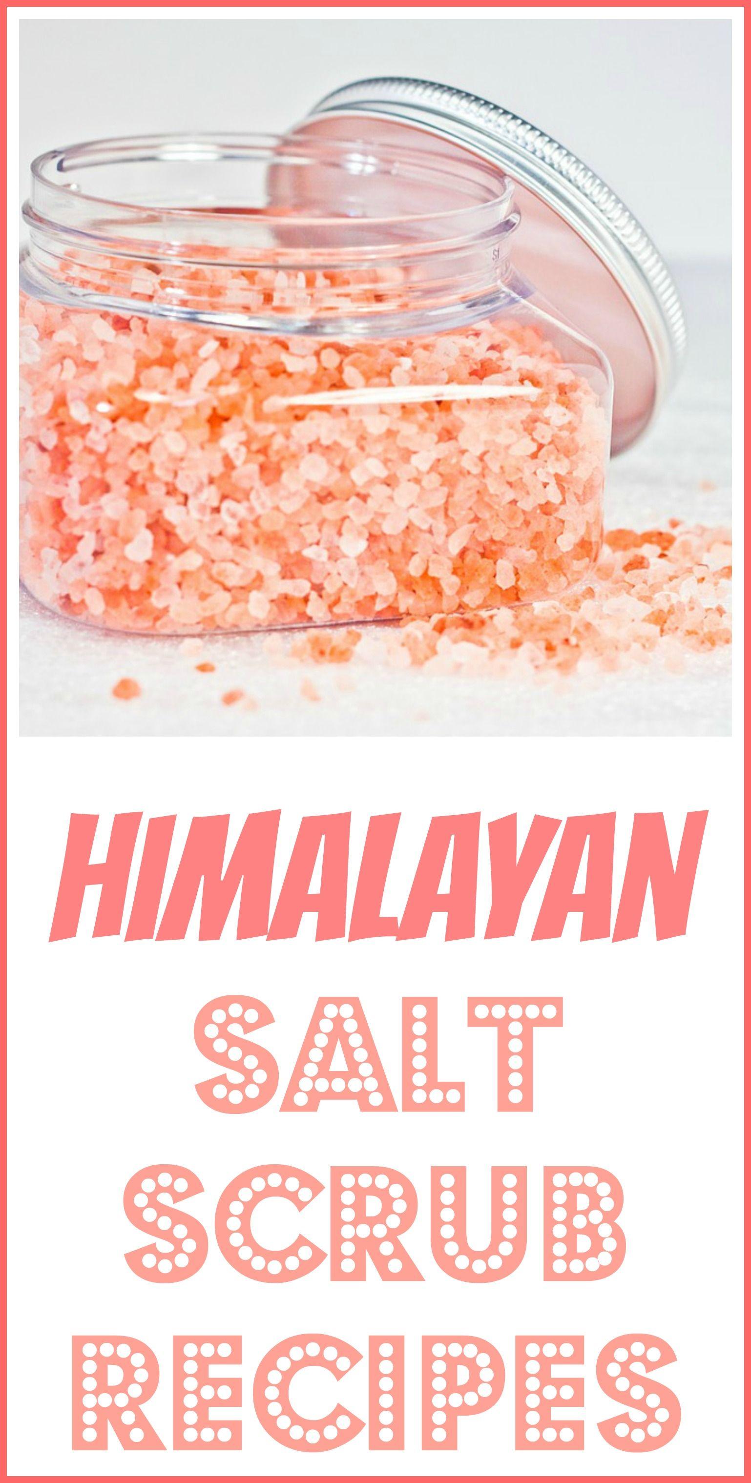 Himalayan Salt Scrub Recipes Salt scrub recipe, Homemade