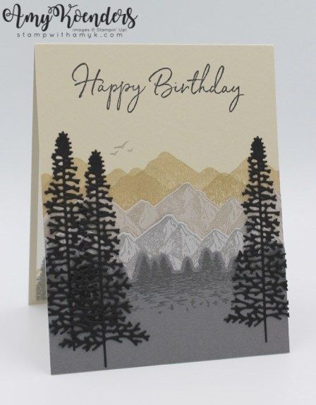 Stampin' Up! Mountain Air with Happy Birthday To You for Sunday Stamps