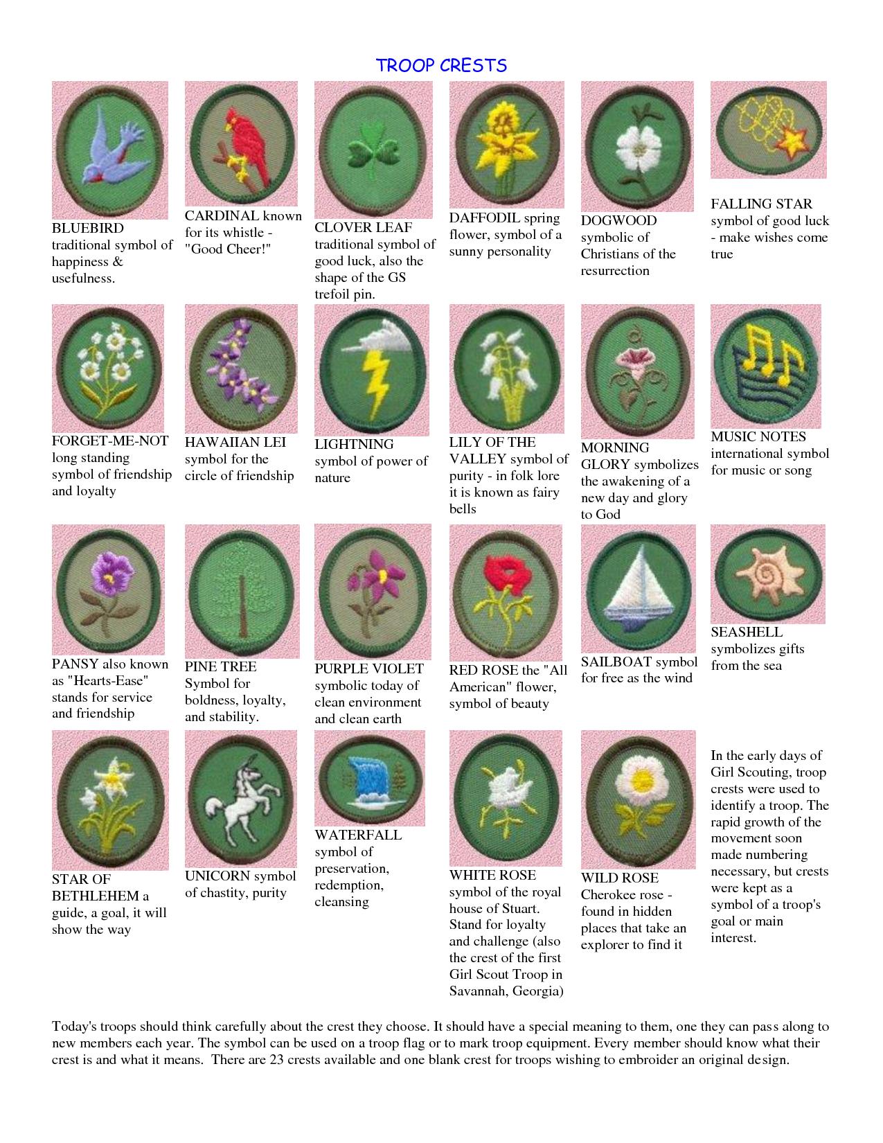 Original Gs Troop Crests