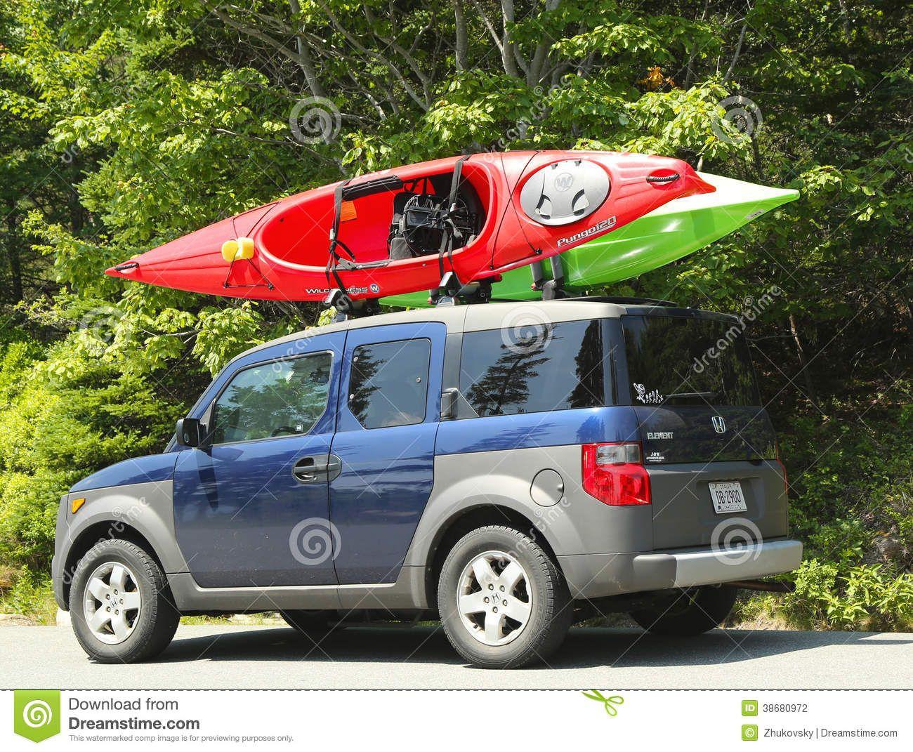 Honda Element Minivan Loaded With Kayaks Honda Element Mini Van Kayak Rack For Suv