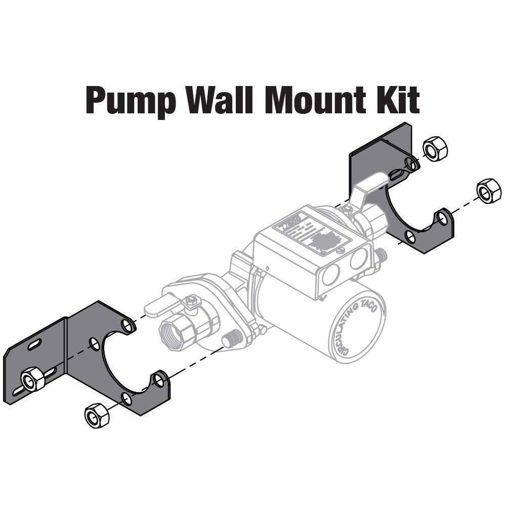 Brackets for supporting and securing Taco pump and flanges