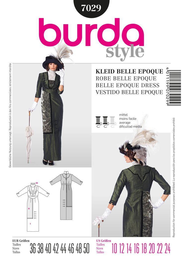 BD7029 Belle Epoque Dress Costume | Refashion For The Price of ...