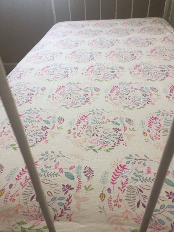 Bohemian Baby Bedding Ed Crib Sheet Nursery Fl Fleet And Flourish Fabric French Seam Mattress
