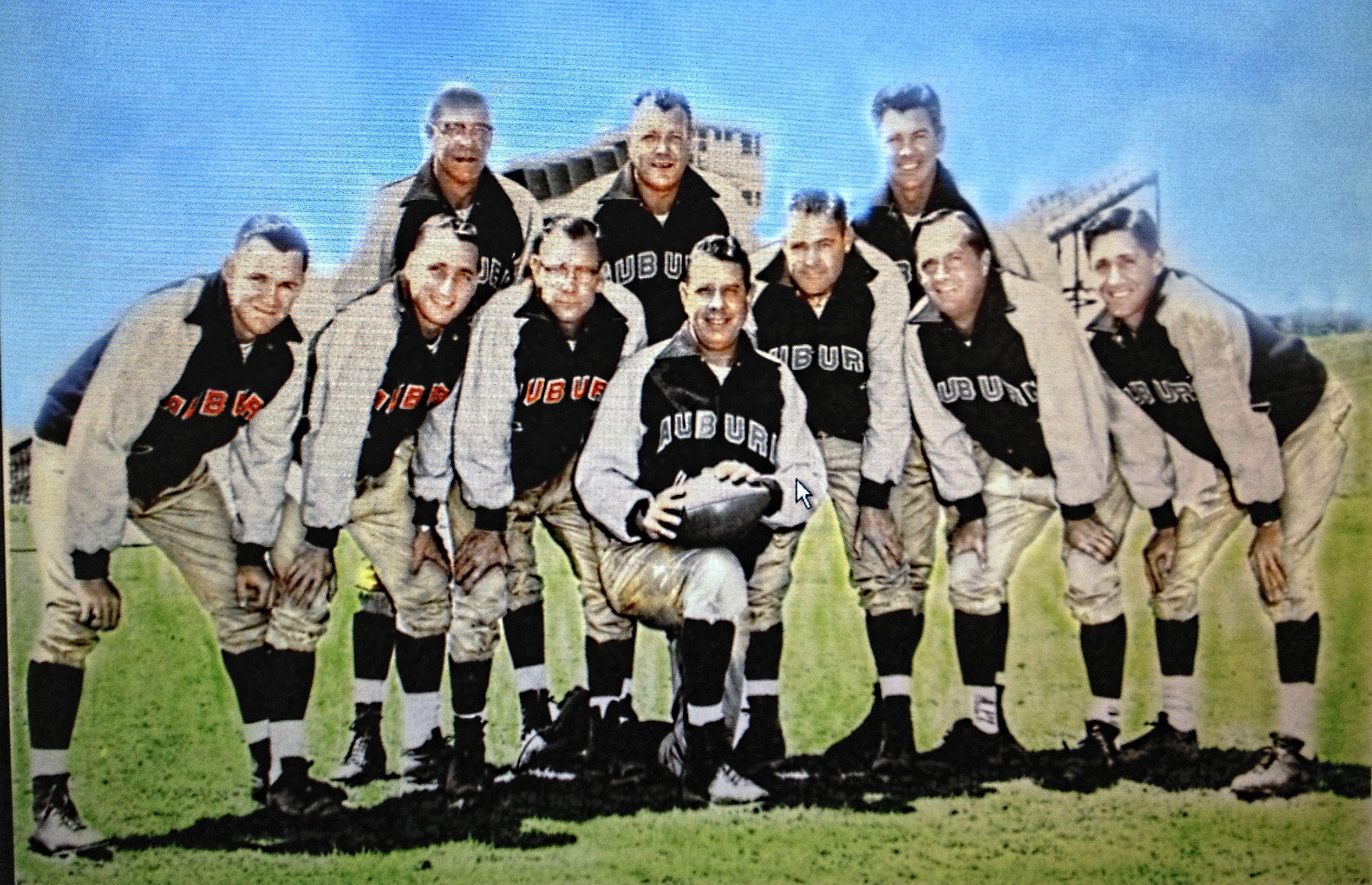 1957 Auburn National Championship Coaches Bottom Row L R
