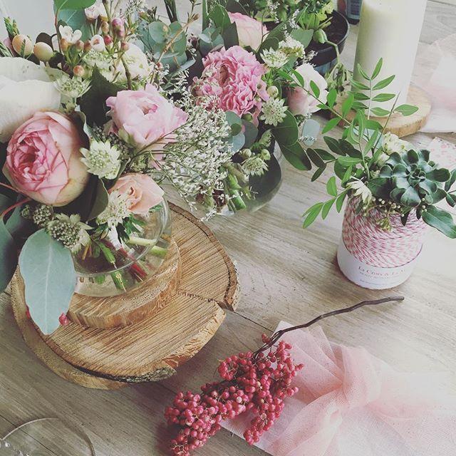 Table rose poudrée avec Tulle pailletée de @mapetitemercerie