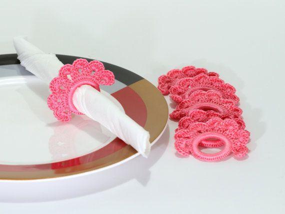 Crochet Napkin Rings Instant Download PDF Pattern por etty2504