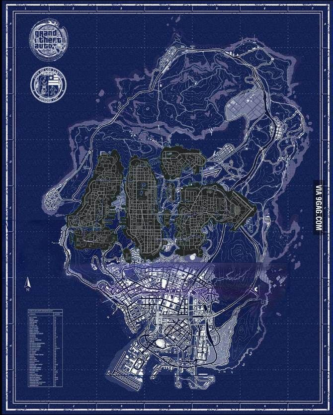 GTA IV map inside GTA V map  | Photography | Gta, Gta funny