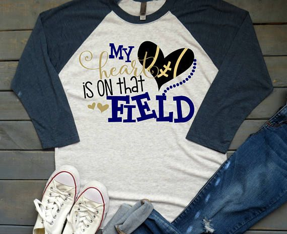 My Heart is on that Field Tee Football Mama Shirt Football