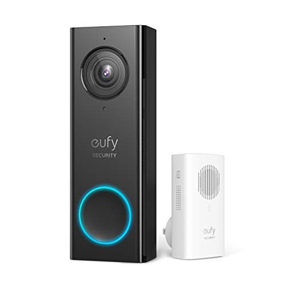 Eufy Security Wi Fi Video Doorbell 2k Resolution No Monthly Fees Secure Local Storage H Video Doorbell Wireless Home Security Systems Home Security Systems
