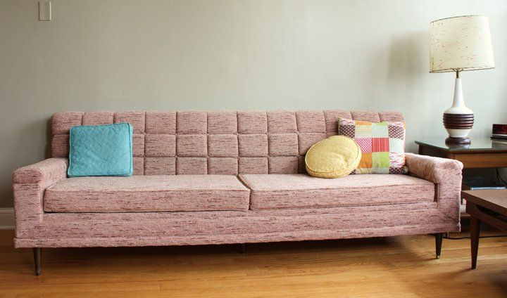 1950s modern sofa via httppinterestcomretroruth - Mid Century Modern Furniture Of The 1950s