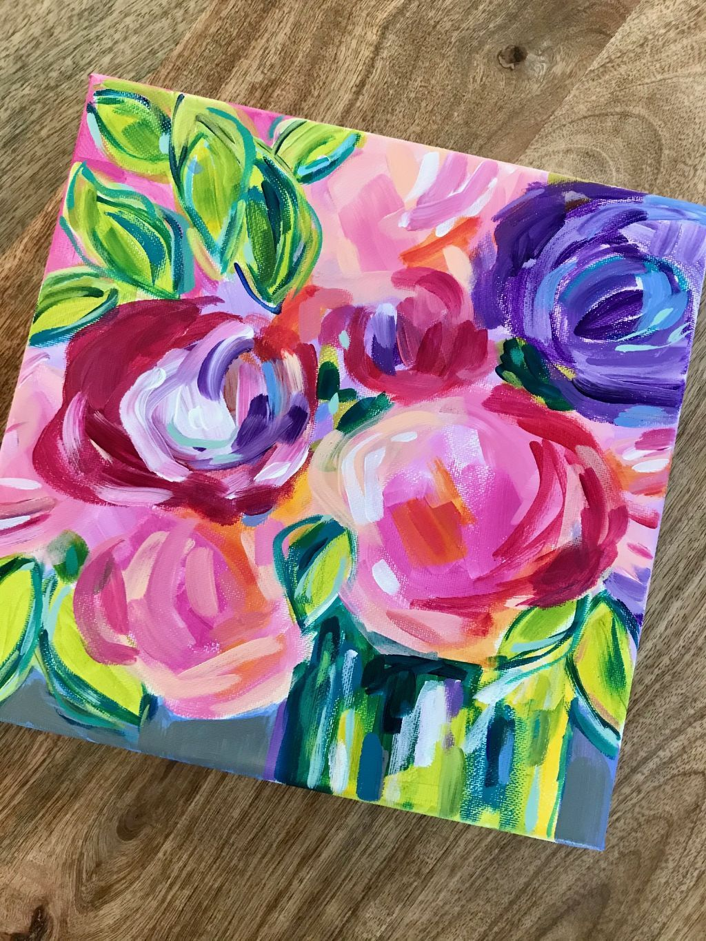 How To Paint Easy Abstract Flowers Youtube And Skillshare Painting