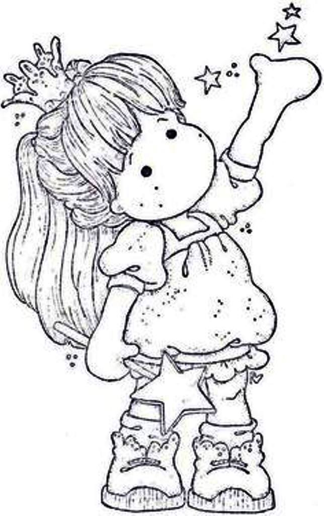 Fairy Princess Tilda Coloring Page Magnolia Stamps Coloring