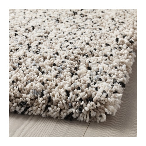 Vindum Rug High Pile White 5 7 X7 7 White Shag Rug Ikea Rug How To Clean Carpet