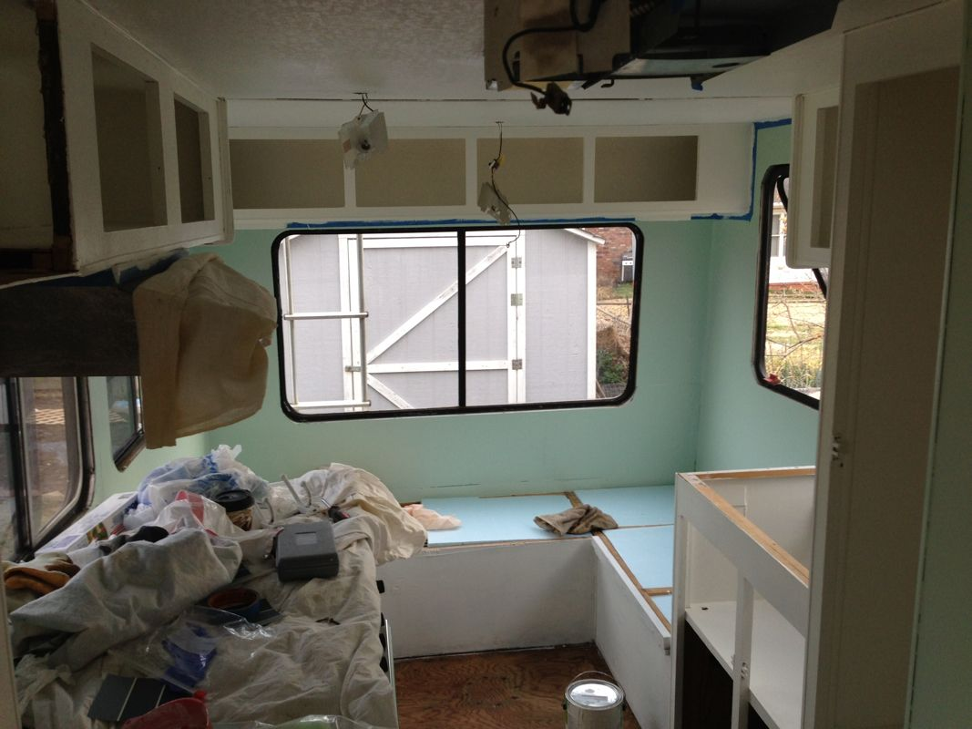 Painting Rv Camper Walls And Cabinets Rv Remodel Nomadic Powers Jil Brannon Powers Www