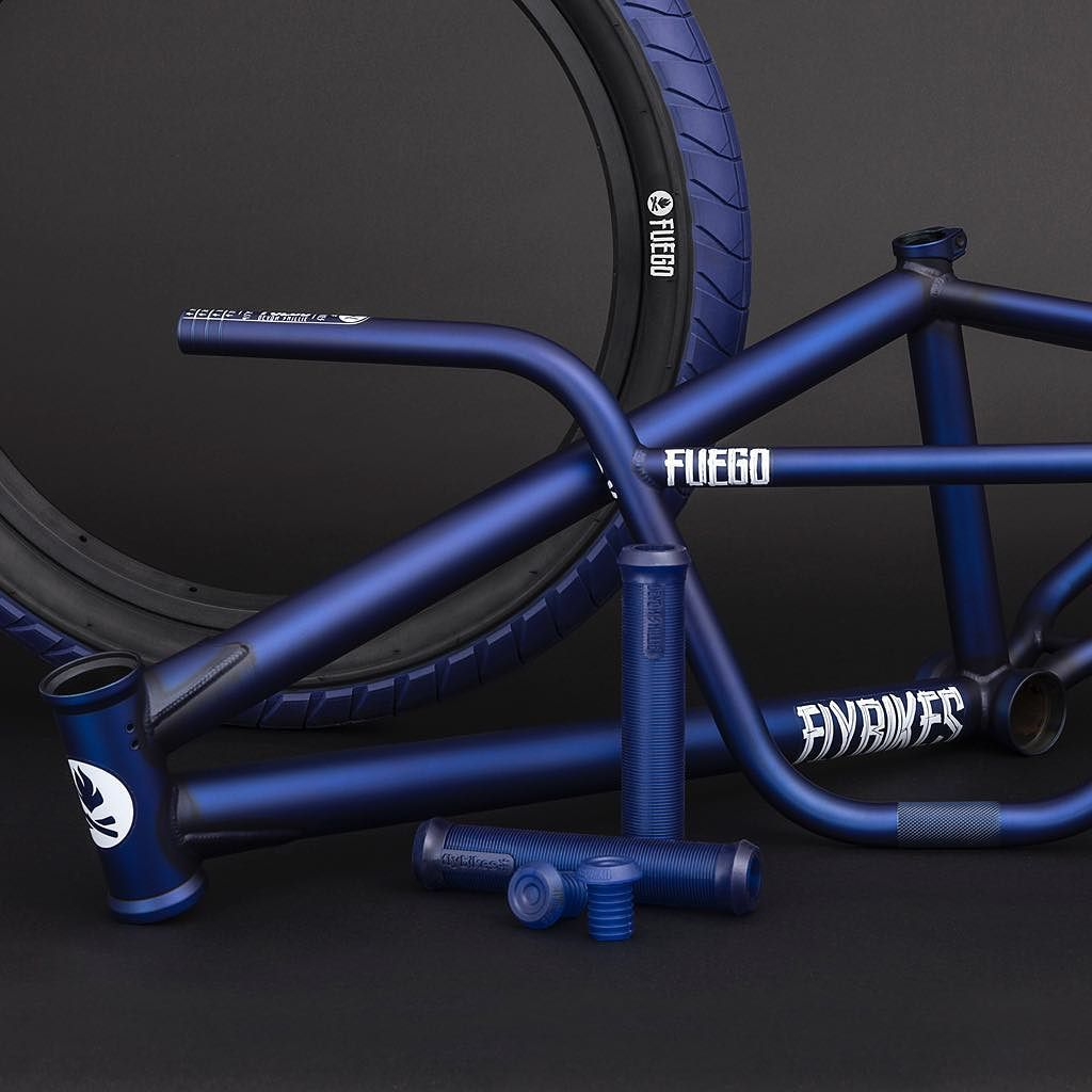 1dd6c2573ce @devonsmillie's signature #Fuego frame bars and tires and Devon grips in  Dark Blue! Available through #Flybikes dealers worldwide now! #bmx #blue  #style