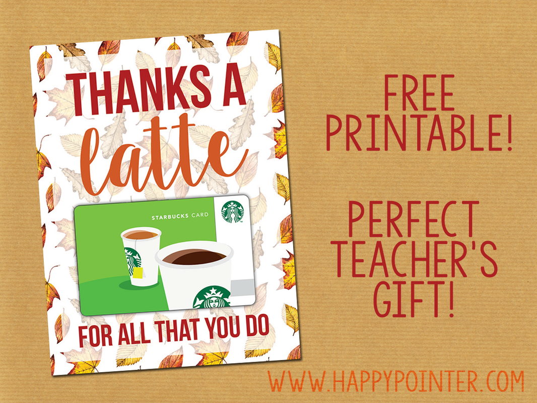 It's just a picture of Epic Thanks a Latte Christmas Printable