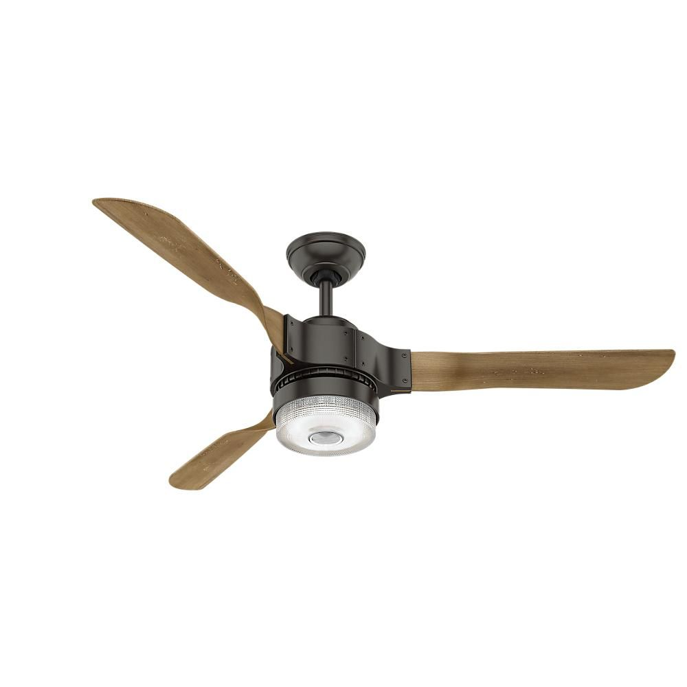 Hunter Apache Wifi Enabled Apple Homekit Google Home Alexa 54 In Wiring Ceiling Fan With Light And Remote Enjoy Breeze Your Dwelling By Installing This Led Indoor Noble Bronze