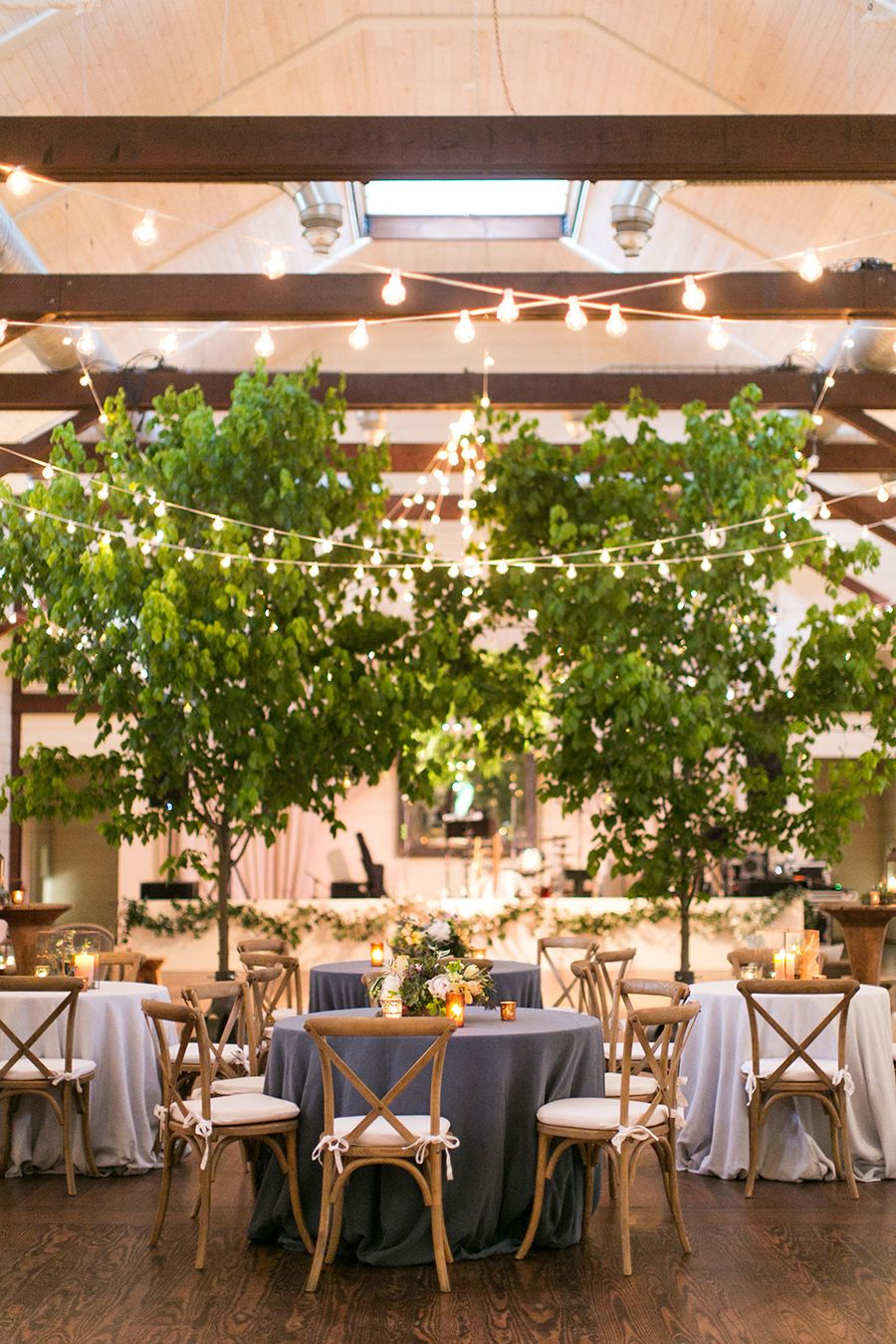 See How 30 Foot Trees Transformed A Reception Space Indoor