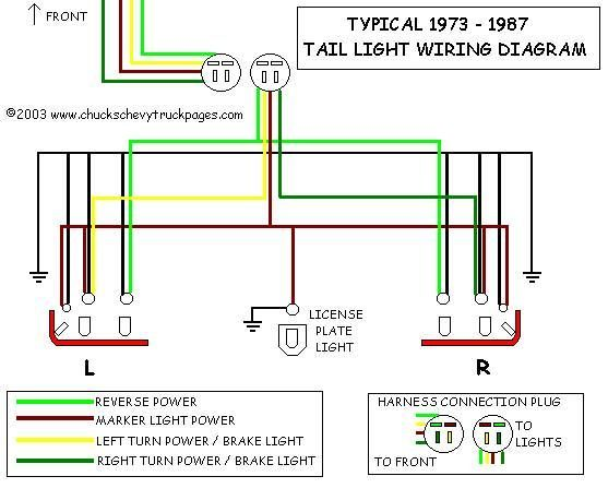 chevy truck tail light wiring harness