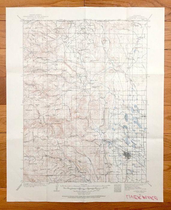 Antique Fort Collins Colorado 1907 Us Geological Survey Topographic